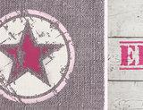 Poster (zelfklevend) roze ster detail