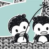 Poster (zelfklevend) pinguin detail