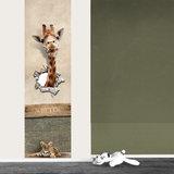 Poster (zelfklevend) kinderkamer babykamer jungle met naam