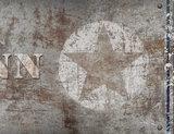 detail poster (zelfklevend) ster roest