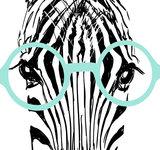 Poster (zelfklevend) zebra detail