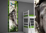 Poster (zelfklevend) junglekamer idee