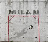 fotobehang voetbal met naam