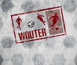Stoer voetbal behang met eigen naam