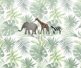 junglekamer dieren behang