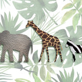 behang olifant giraf zebra