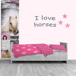 Poster kinderkamer (zelfklevend): paard