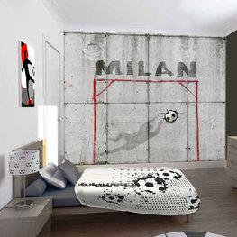 Fotobehang voetbal beton met naam