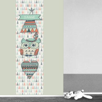 Poster kinderkamer (zelfklevend): Stoere uil