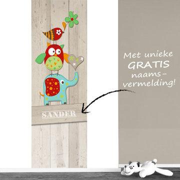 Poster babykamer (zelfklevend): Dierentoren