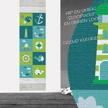 Poster babykamer (zelfklevend): Strand