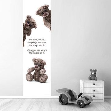 Poster babykamer (zelfklevend): Beer met tekst