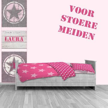 Meidenkamer idee 101 kinderkamer idee n en decoratie - Decoratie roze kamer ...