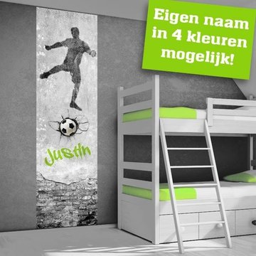 Poster kinderkamer (zelfklevend): Voetbal Goal!