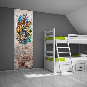 Poster kinderkamer / tienerkamer (zelfklevend): Graffiti muur