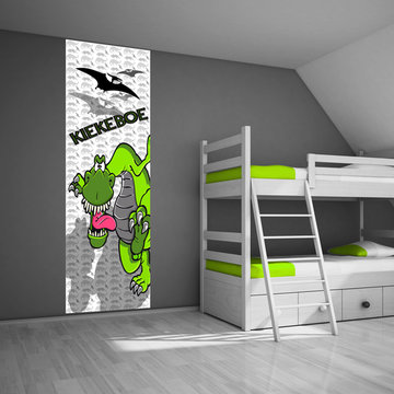 Poster kinderkamer (zelfklevend): Dinosaurus