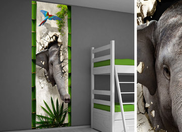 poster kinderkamer zelfklevend jungle