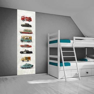 Poster kinderkamer (zelfklevend): Dinky toys