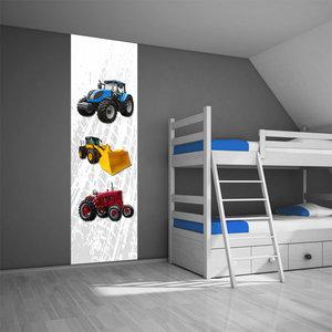 Poster kinderkamer (zelfklevend): Tractor