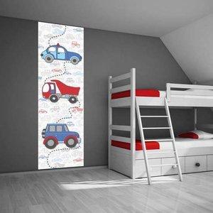 Poster kinderkamer (zelfklevend): Auto vroemmm