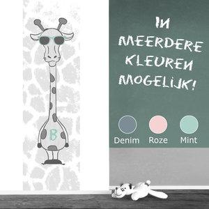Muursticker babykamer paneel: Stoere giraf