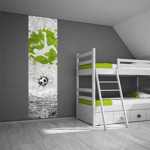 Poster kinderkamer (zelfklevend): Voetbal groen
