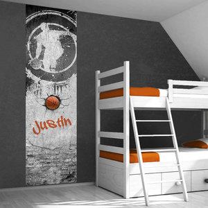 Poster kinderkamer (zelfklevend): Basketbal