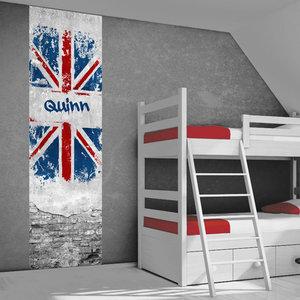 Poster kinderkamer (zelfklevend): Engelse vlag