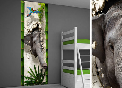 Poster kinderkamer (zelfklevend): Jungle