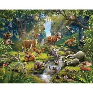 Dieren behang - Herten, konijnen, schildpadden enz.