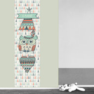 Poster (zelfklevend) babykamer uil