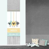 Poster babykamer (zelfklevend) schapen