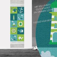 Poster (zelfklevend) strandkamer