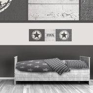 Poster (zelfklevend) grijs ster kinderkamer