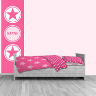 Zelfklevende poster roze ster met naam