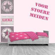 Zelfklevende poster ster roze meidenkamer