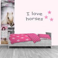 Poster (zelfklevend) paard kinderkamer