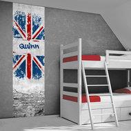 Poster (zelfklevend) Engelse vlag jongenskamer