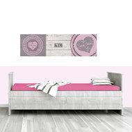 Poster (zelfklevend) babykamer harten
